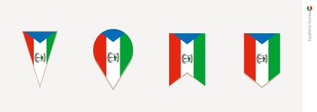 Equatorial Guinea flag in vertical design, vector illustration.