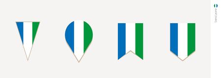 Sierra Leone flag in vertical design, vector illustration.