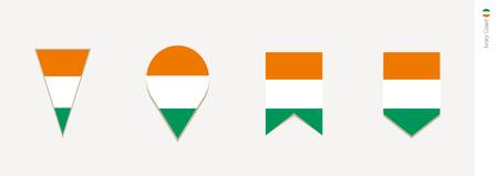 Ivory coast flag in vertical design, vector illustration. Illustration