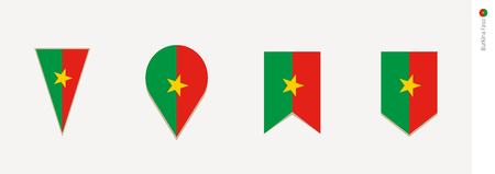 Burkina Faso flag in vertical design, vector illustration.