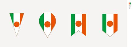 Niger flag in vertical design, vector illustration.