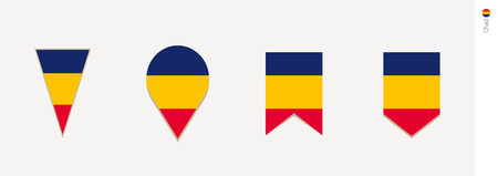 Chad flag in vertical design, vector illustration.