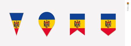 Moldova flag in vertical design, vector illustration.