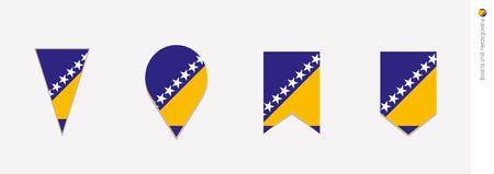 Bosnia and Herzegovina flag in vertical design, vector illustration.