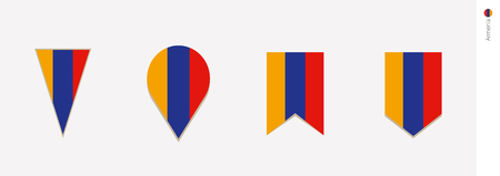 Armenia flag in vertical design, vector illustration.