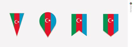 Azerbaijan flag in vertical design, vector illustration.