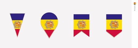 Andorra flag in vertical design, vector illustration.