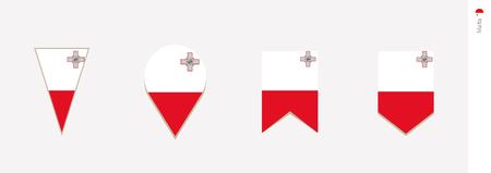 Malta flag in vertical design, vector illustration. Illustration