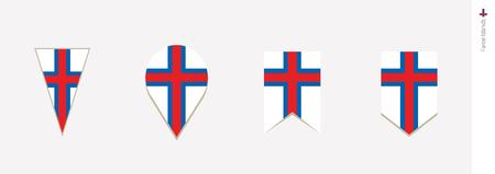 Faroe Islands flag in vertical design, vector illustration. Illustration