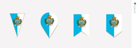 San Marino flag in vertical design, vector illustration. Illustration