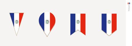 Paraguay flag in vertical design, vector illustration.