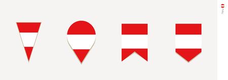 Peru flag in vertical design, vector illustration.