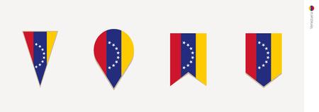 Venezuela flag in vertical design, vector illustration.