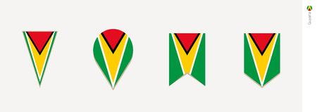 Guyana flag in vertical design, vector illustration.