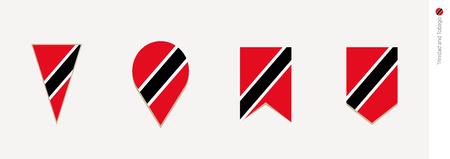 Trinidad and Tobago flag in vertical design, vector illustration.