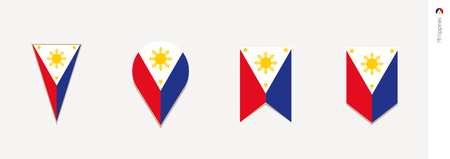 Philippines flag in vertical design, vector illustration.
