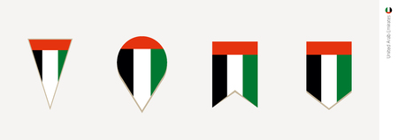 UAE flag in vertical design, vector illustration.