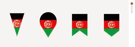 Afghanistan flag in vertical design, vector illustration.