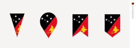 Papua New Guinea flag in vertical design, vector illustration.