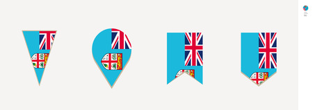 Fiji flag in vertical design, vector illustration. Illustration