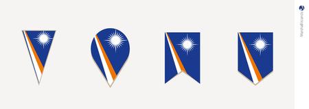 Marshall Islands flag in vertical design, vector illustration.  イラスト・ベクター素材
