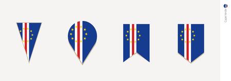 Cape Verde flag in vertical design, vector illustration.