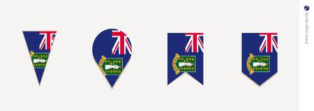 British Virgin Islands flag in vertical design, vector illustration. Illustration