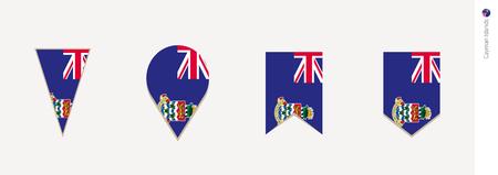 Cayman Islands flag in vertical design, vector illustration. Illustration
