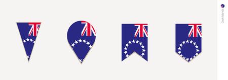 Cook Islands flag in vertical design, vector illustration. Illustration