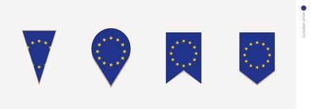 European Unionflag in vertical design, vector illustration.