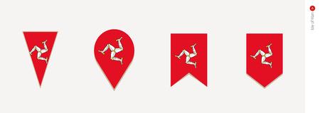 Isle of Man flag in vertical design, vector illustration. Illustration