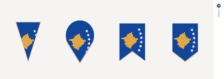Kosovo flag in vertical design, vector illustration.