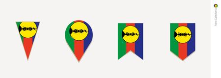 New Caledonia flag in vertical design, vector illustration.