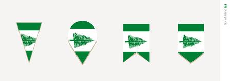 Norfolk Island flag in vertical design, vector illustration.