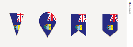 Saint Helena flag in vertical design, vector illustration.