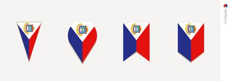 Sint Maarten flag in vertical design, vector illustration.