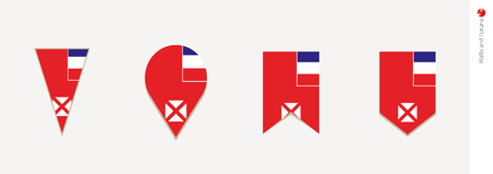 Wallis and Futuna flag in vertical design, vector illustration.