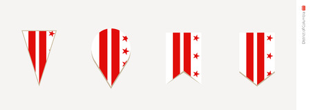 District of Columbia flag in vertical design, vector illustration.