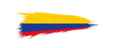Flag of Colombia in grunge brush stroke, vector grunge illustration. 일러스트