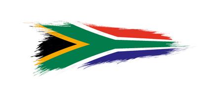 Drapeau de l'Afrique du Sud en coup de pinceau grunge, illustration vectorielle grunge. Vecteurs