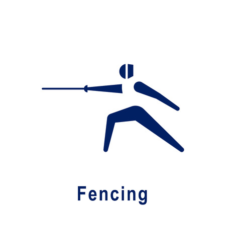 Fencing pictogram, new sport icon. Vector illustration.
