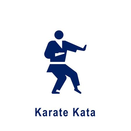 Karate Kata pictogram, new sport icon. Vector illustration.