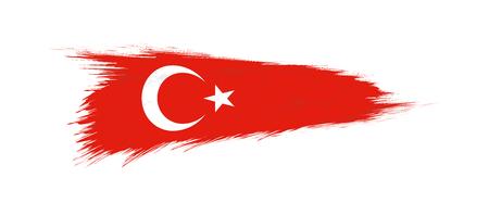 Drapeau de la Turquie en coup de pinceau grunge, illustration vectorielle grunge. Vecteurs