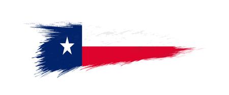 Flag of Texas US State in grunge brush stroke, vector grunge illustration.