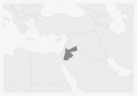 jordan map middle east