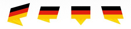 Flag of Germany in modern abstract design, vector flag set.