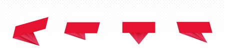Flag of Poland in modern abstract design, vector flag set. Vektoros illusztráció