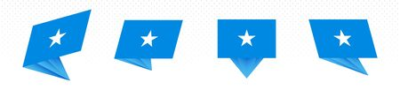 Flag of Somalia in modern abstract design, vector flag set.