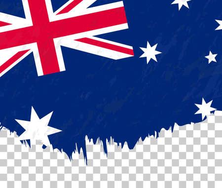 Grunge-style flag of Australia on a transparent background. Vector textured flag of Australia for vertical design.