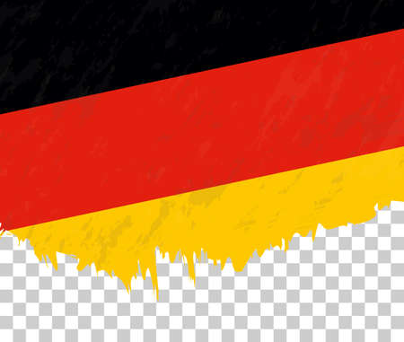 Grunge-style flag of Germany on a transparent background. Vector textured flag of Germany for vertical design. Stock Illustratie